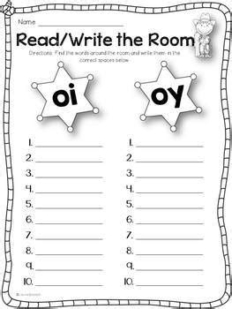 Diphthongs OI and OY Activity Pack   TpT