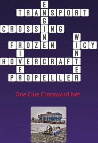 Frozen River - Get Answers for One Clue Crossword Now