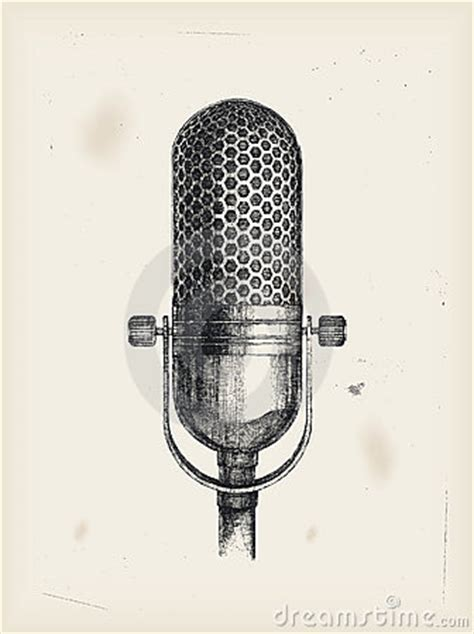 Microphone-drawing Royalty Free Stock Image - Image: 15599646