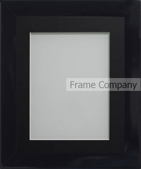 Black 20x16 frame with black mount cut for image size 15x10