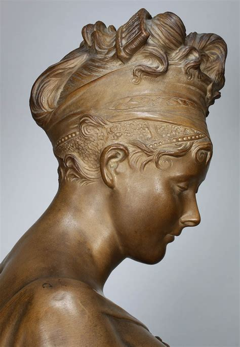"""A Fine French 19th Century Terracotta Bust of """"Madame"""