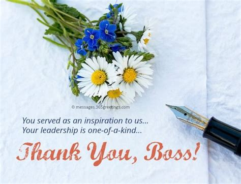 Thank You Notes to Boss - Appreciation Letter and Messages