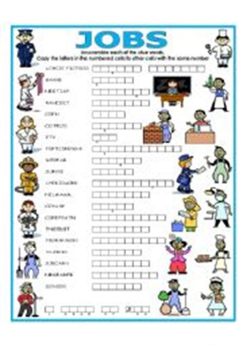 DOUBLE PUZZLE (JOBS) + KEY - ESL worksheet by lupiscasu