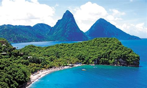 The Pitons, the iconic sight of St