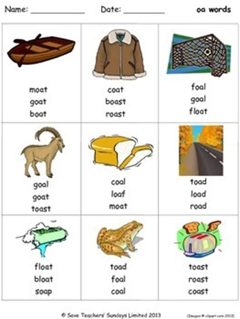 oa phonics lesson plans, worksheets and other teaching