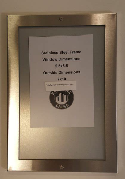Elevator Notice frame stainless Steel | HPD SIGNS -THE