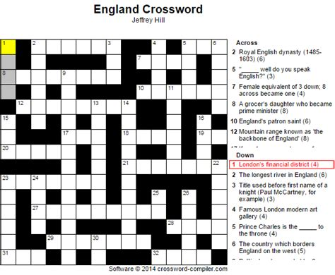 St George's Day Crossword - The English Blog