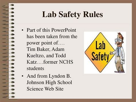 Safety and rules of the lab - презентация онлайн