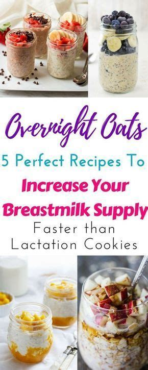 Overnight oats for lactation to increase milk supply