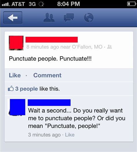 *punctuate, people