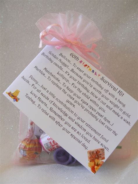 60th 70th 80th Birthday Survival Kit gift and by