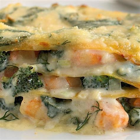 Salmon, Prawn and Dill Lasagne - The Happy Foodie